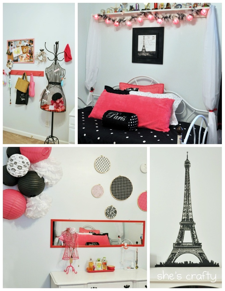 Pink And Black Paris Theme For My Future Dorm