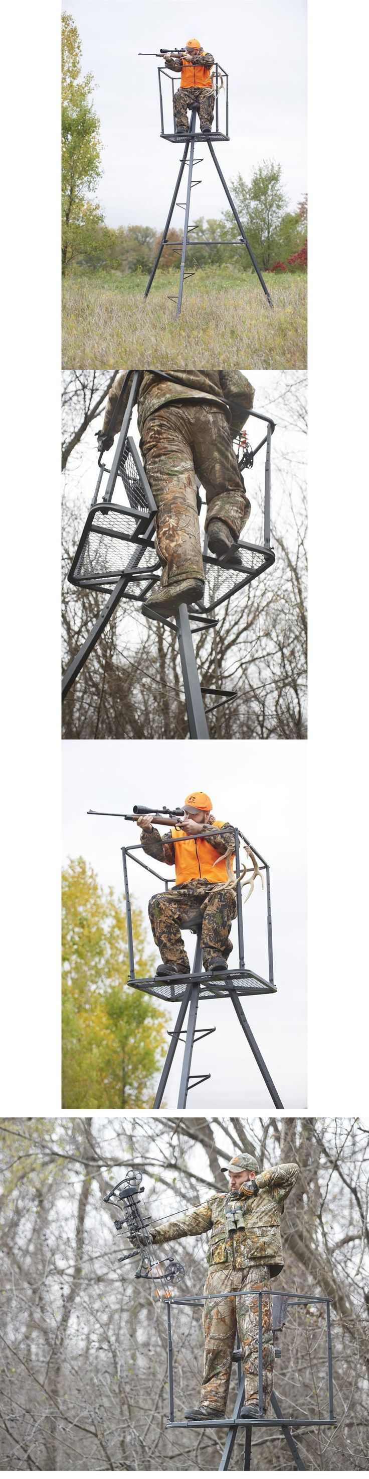 Tree Stands 52508: Deer Stand 13 Ft Seat Tripod Hunting Big Game Hunter Ladder Shooting Tree Blind BUY IT NOW ONLY: $216.79