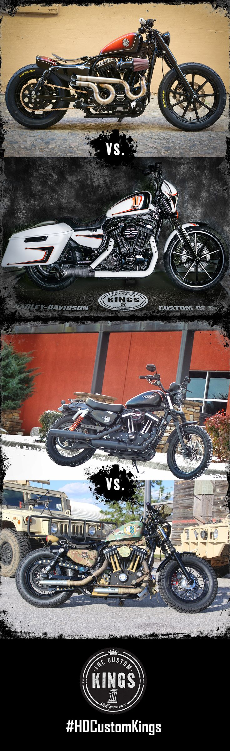Round two of the #HDCustomKings Sportster competition is underway. Who will win the crown? Vote daily! | Harley-Davidson #HDCustomKings Southeast Region