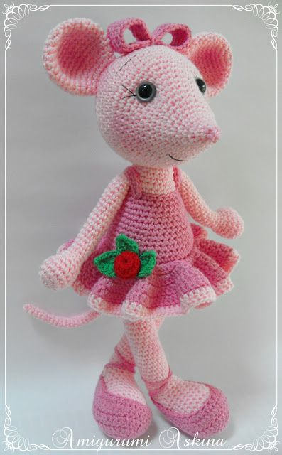 Amigurumi pink mouse - ohhhh so cute!!