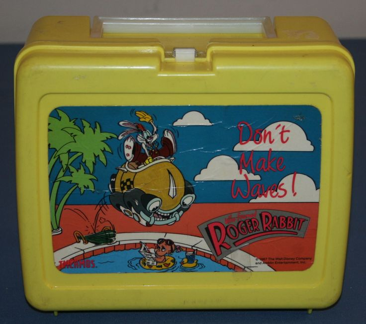 Who Framed Roger Rabbit Dont Make Waves Thermos Brand Lunchbox Walt Disney Amblin Entertainment  1987 by myrustygold on Etsy