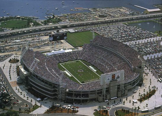 "The annual Florida-Georgia football game is played each year at Everbank Field in Jacksonville.  It is an historic rivalry whose game day activities have been called ""the world's largest outdoor cocktail party""."