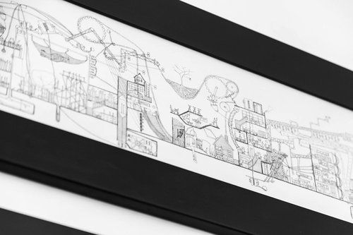 Ellie Compton: Controlled New Zealand Artist that intertwines architecture and Narrative in complex hand drawings