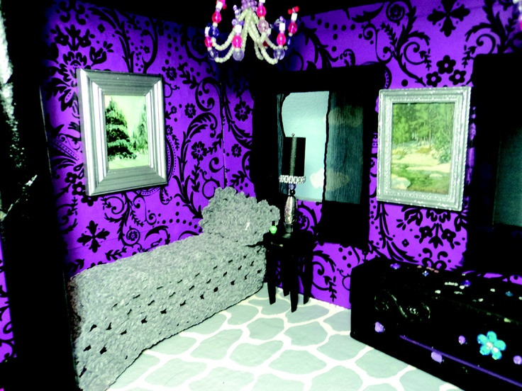 One of the dorm rooms at Skull Academy for Monster High dolls