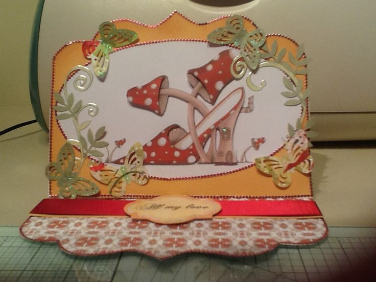 An easel card using Katie Sue designs