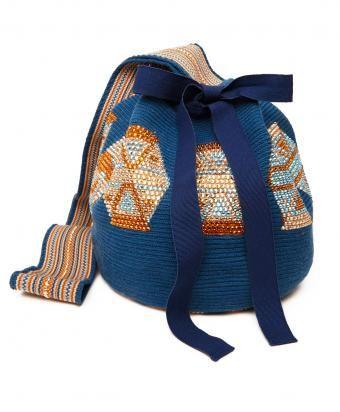 Silvia Tcherassi Blue Cotton Crystal Tungo Mochila Bag www.shoplatitude.com/tungo-mochila.html