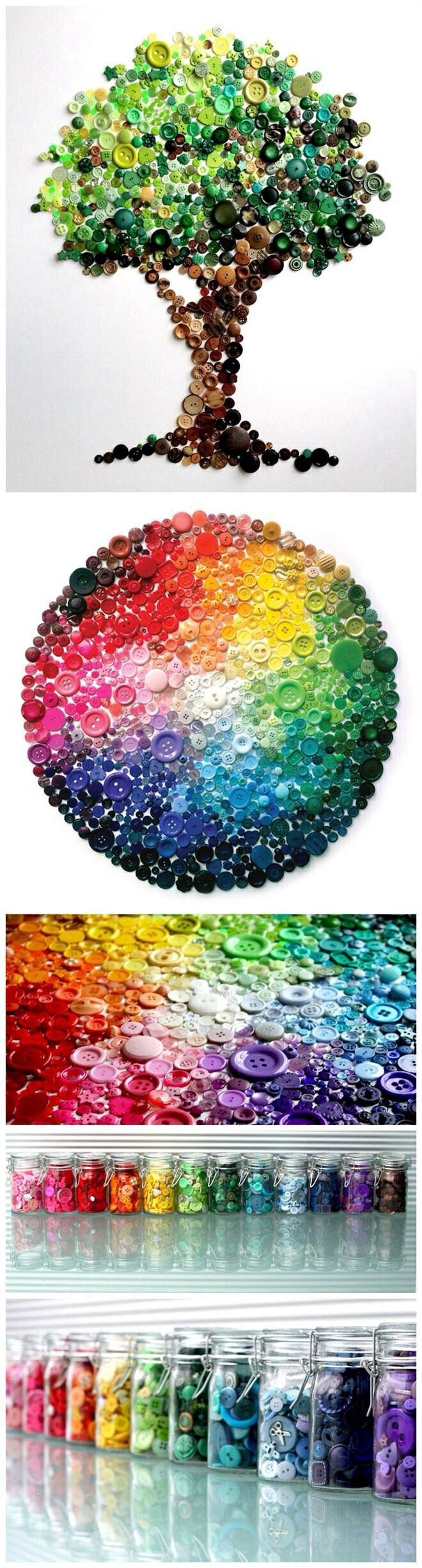 #art #colours #buttons - this is such a neat artsy/crafty idea