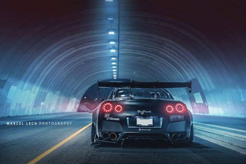 Rear View of Nissan GTR Photo by Marcel Lech Photography