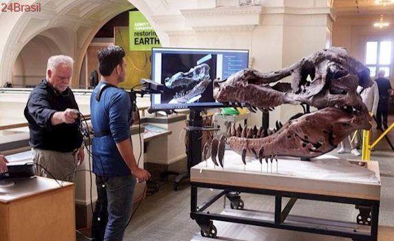Kinect é usado para escanear o crânio de Tiranossauro Rex