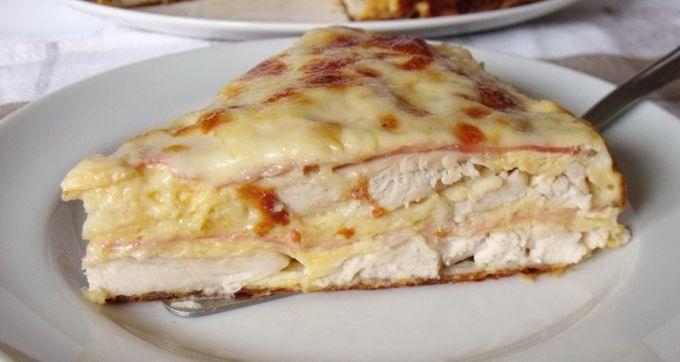 Luxusní slaný kuřecí dort se sýrem a šunkou! Hotový je za chviličku!