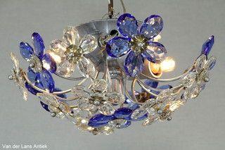 Italiaanse plafonniere 26215 bij Van der Lans Antiek. Meer antieke lampen op www.lansantiek.com
