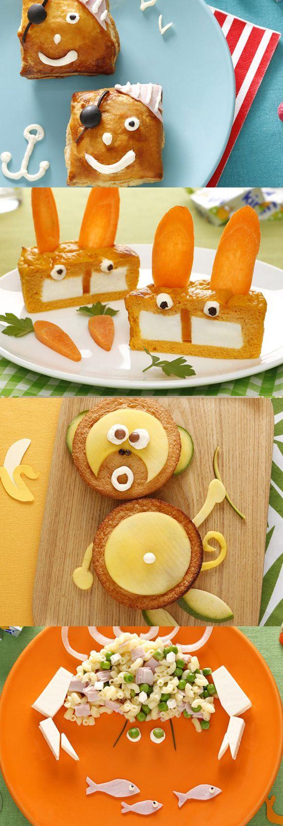 Des dizaines de recettes rigolotes & gourmands avec Kiri pour amuser petits et grands gourmands :) #kiri #cream #cheese #fromage #fun #food #art #recette #recipe #gourmand #yummy #enfant #Kids #food #rigolo #cute #animals