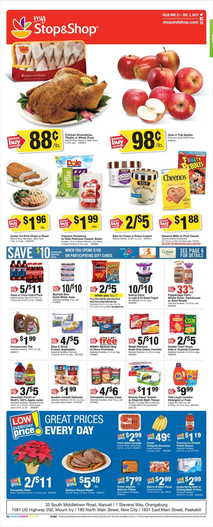 Stop and Shop Circular November 27 - December 3, 2015 - http://www.olcatalog.com/grocery/stop-and-shop-circular.html