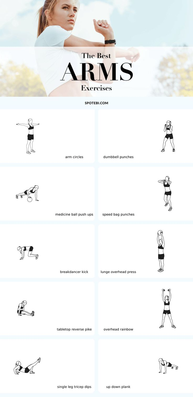 If you want to know what are the best arm exercises for women search no more because we have them all! To offer your arms a killer workout all you need are these ten essential exercises. They will help you sculpt lean, toned and sexy arms, boost your calorie burn and see results faster. Grab a set of dumbbells and give this workout a try! https://www.spotebi.com/fitness-tips/best-arm-exercises-toned-sculpted-sexy-arms/