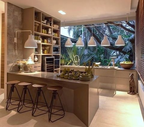 WEBSTA @ arq.paularoque - Cozinha para inspirar ✨ O espaço tem um charme especial e cada cantinho um detalhe