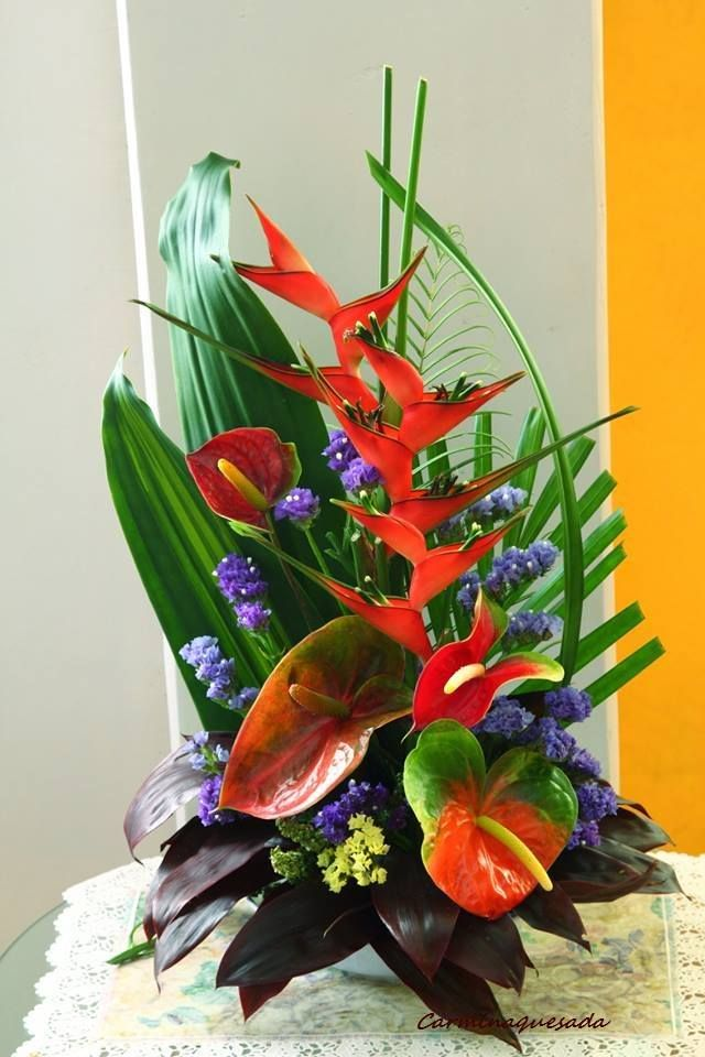 Tropical Wedding Bouquets Weddings Fall Flowers Cut Flower Arrangement Floral Arrangements Ikebana Donegal Centre Pieces