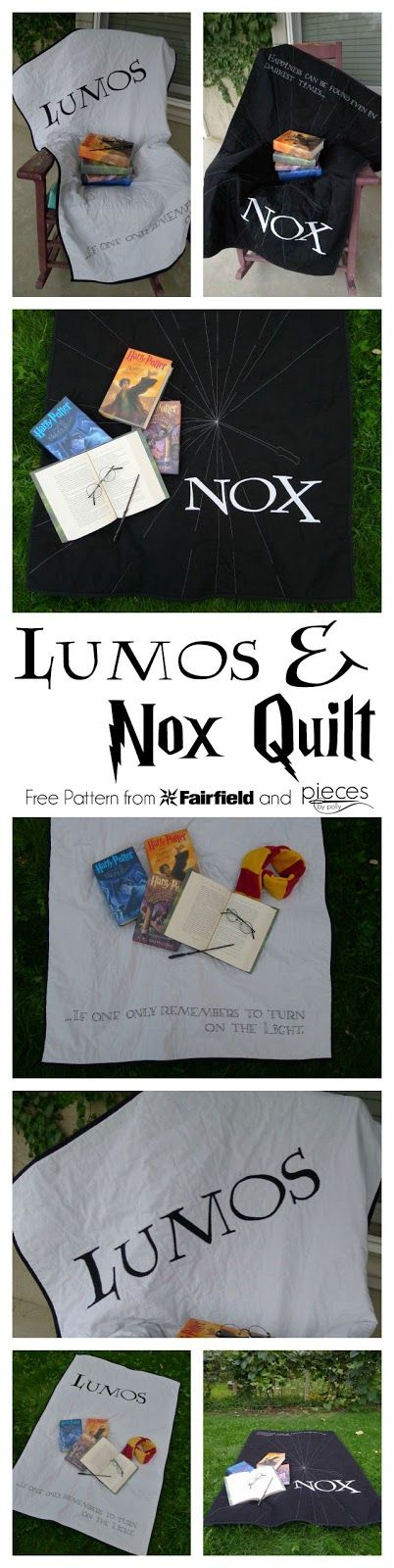 Pieces by Polly: Lumos and Nox Quilt Pattern - Harry Potter Inspired Quilt