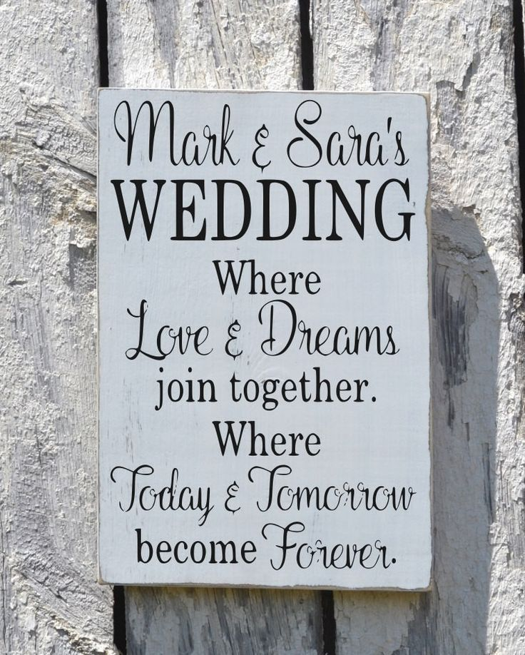 Rustic Wedding Sign Welcome Personalized Signs For Weddings Love Quote Sayings…