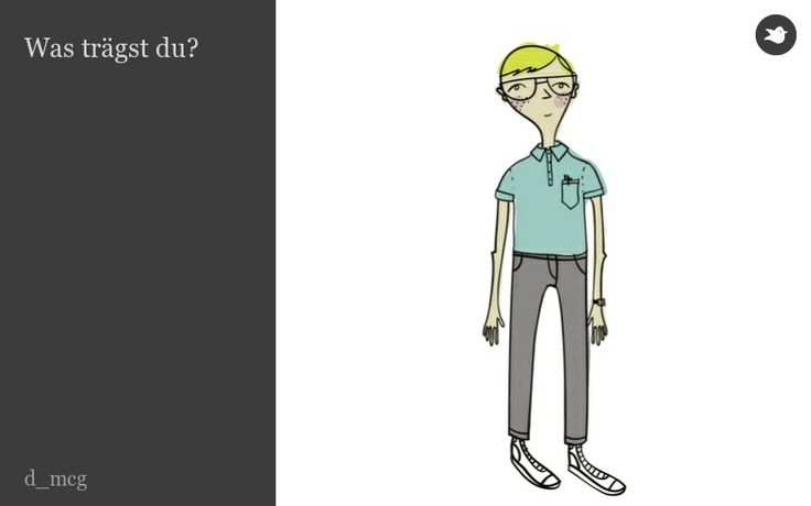 Was trägst du? What are you wearing? A simple illustrated story about clothing.