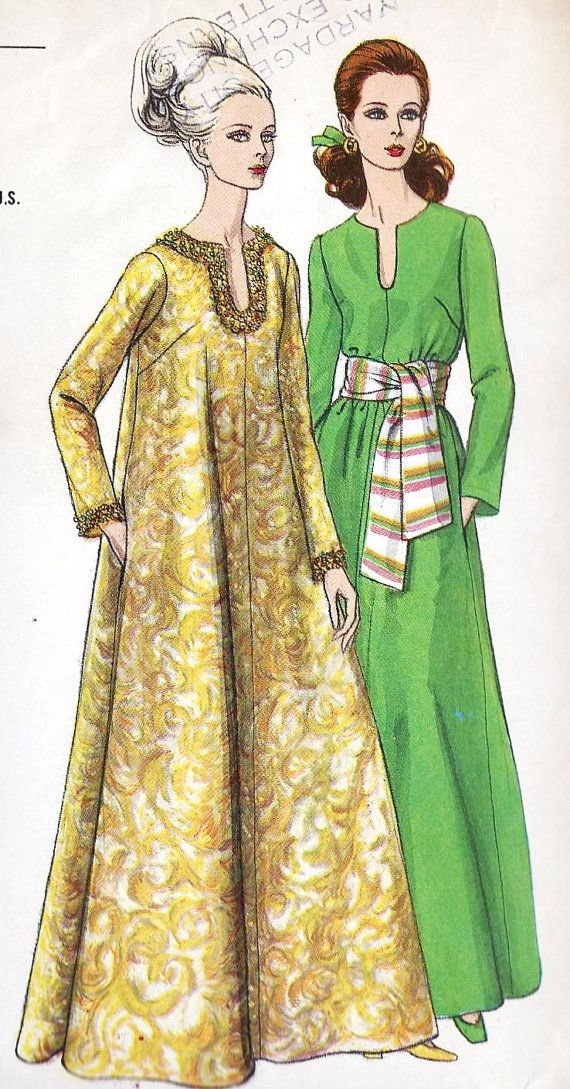 1960s Misses Caftan  I would totally wear these in Marrakesh today.   PattyOnSite