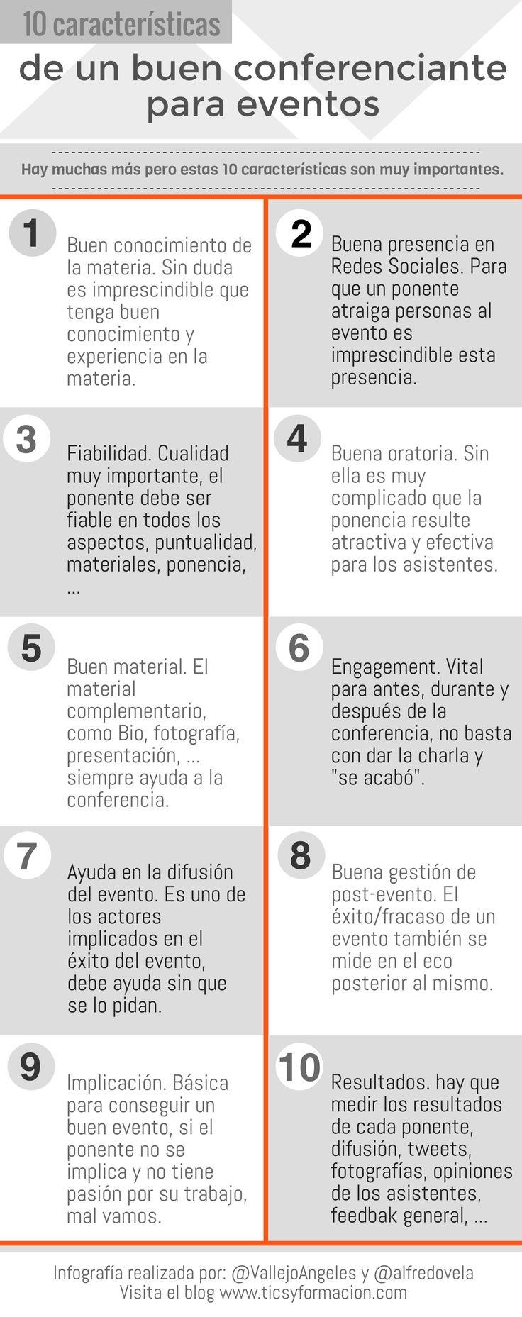 10 características de un buen conferenciante para eventos