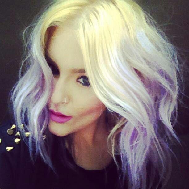jennifer avello pastel purple lavender blonde ombre hair