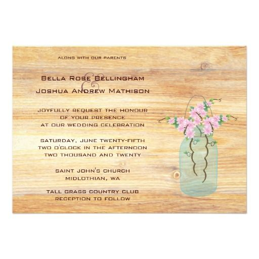 155 best Wedding Invitations images on Pinterest Mason jar wedding