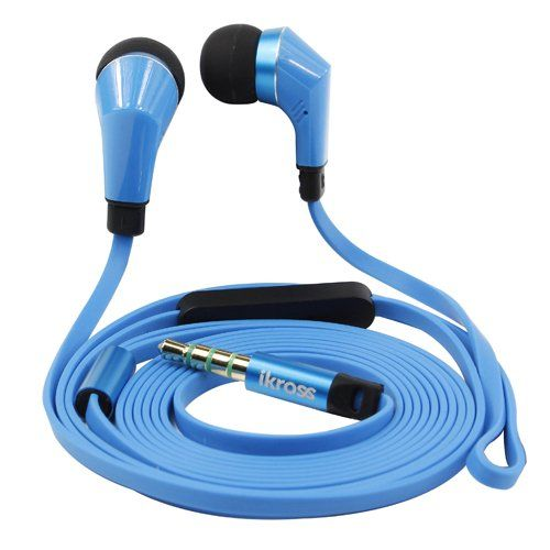 iKross In-Ear 3.5mm Noise-Isolation Stereo Earbuds with Microphone For Samsung Galaxy Note 3 / Galaxy Mega / Galaxy S5 S V / Galaxy Note 2 N7100 Android Smartphone Tablet - Blue / Black Brand new iKross IKHS11L Earbuds. Lightweight & Stylish design & Low noise. Noise reduction microphone and earbuds.. Premium tangle-free flat cable with metallic housing earbuds.. Includes three pairs of soft gel e... #IKross #Wireless