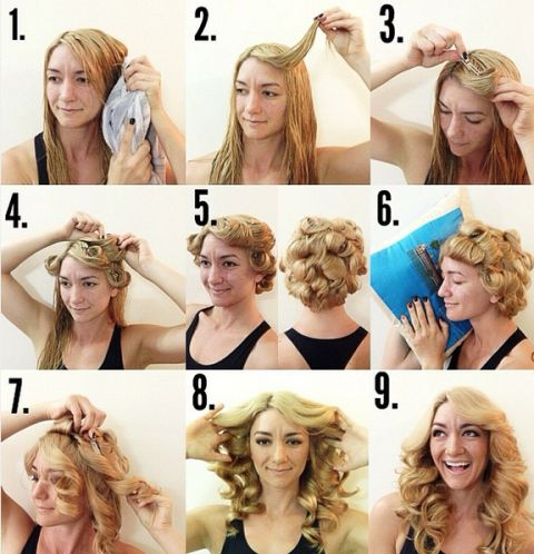 heatless curl hairstyle