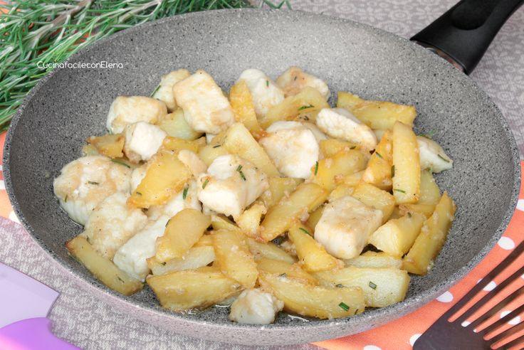 bocconcini di pollo e patate in padella