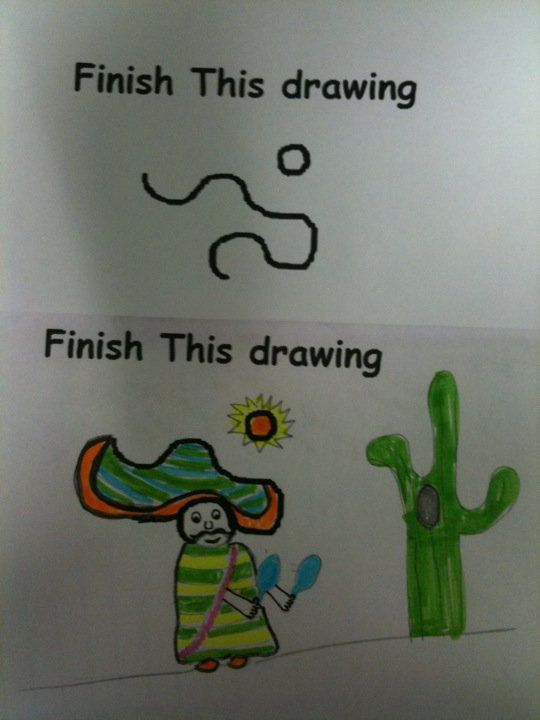 Fun activity if students finish early with assignments...what a great way to foster creativity!