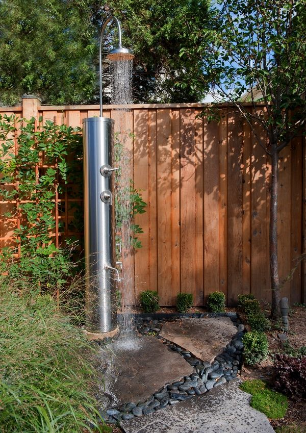 Wonderful Outdoor Shower Enclosure Ideas Feature Fantastic Garden Shower Designs  Providing An Opportunity To Cool Off On Hot Summer Days Or After Work Good Ideas