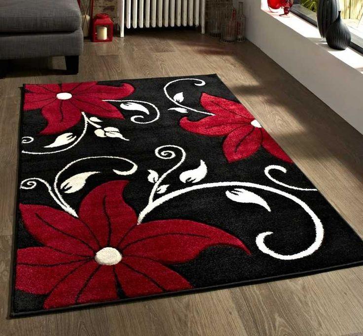 Verona Oc15 Black Red Rugs 80 X 150cm