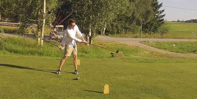 Burst sequence of golf-swing. Taken at Halden Golfklubb, Fredriksten festning, Halden, Norway     Understand how to improve your golf swing Great videos and articles.