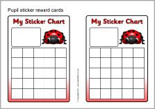 Pupil sticker reward cards (SB4198) - SparkleBox