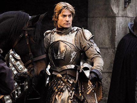 """Jamie Lannister - an all around jerk, and son of the richest man in the kingdom, Tywin Lannister. Jamie's character is somewhat of an enigma in the books, as he sometimes shows that he has redeeming qualities, and that he actually has a heart. He is one of the greatest warriors and jousters in the kingdom, but his brash actions sometimes get him in trouble. There are some major changes to his character in the upcoming seasons. Quote: """"The things I do for love."""""""