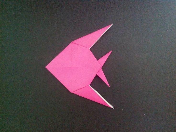 Оригами рыба скалярия, origami Fishhttps scalars