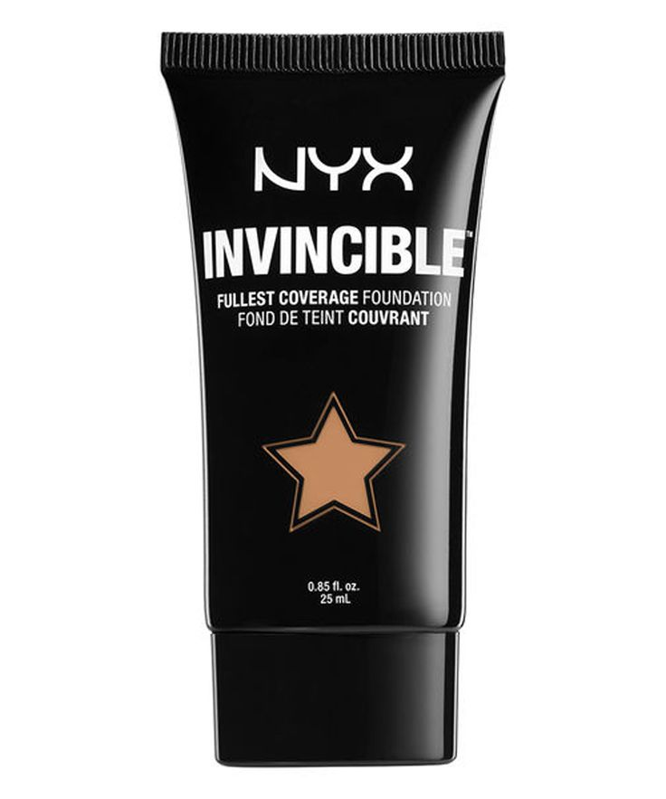 8 Full-Coverage Foundations So Good, They Melt into Skin - NYX Invincible Fullest Coverage Foundation from InStyle.com