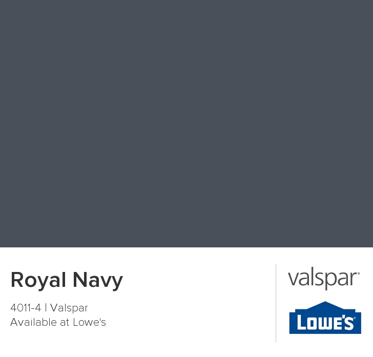 Valspar Paint - Color Chip - Royal Navy. This colour is in