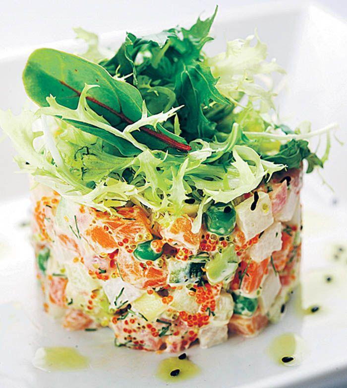разные составляющие салаты как в ресторане рецепты с фото красивое
