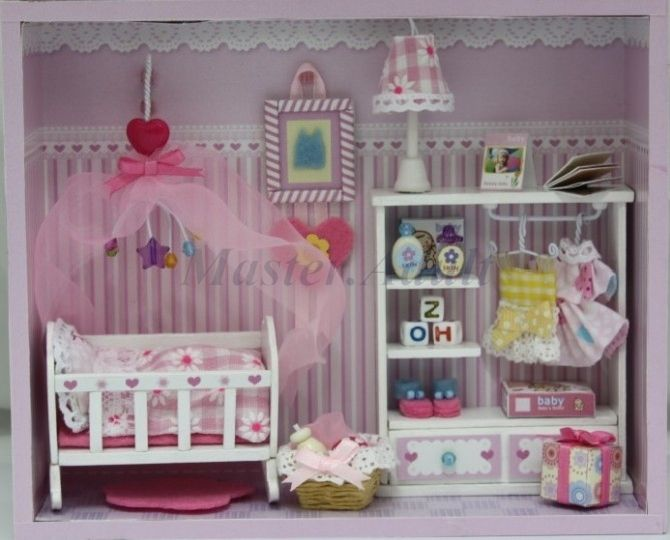 1 12 Dollhouse Miniature 7 Quot Height Deluxe Baby Room Diy