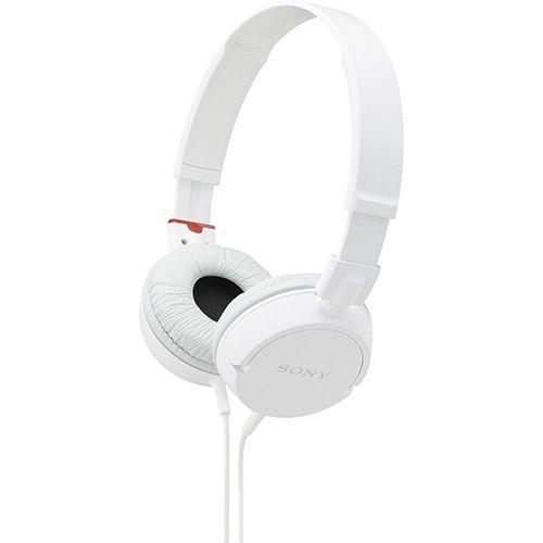Fone de Ouvido Sony Supra Auricular Branco - MDR - ZX100 / WQAE ( 111746278 )