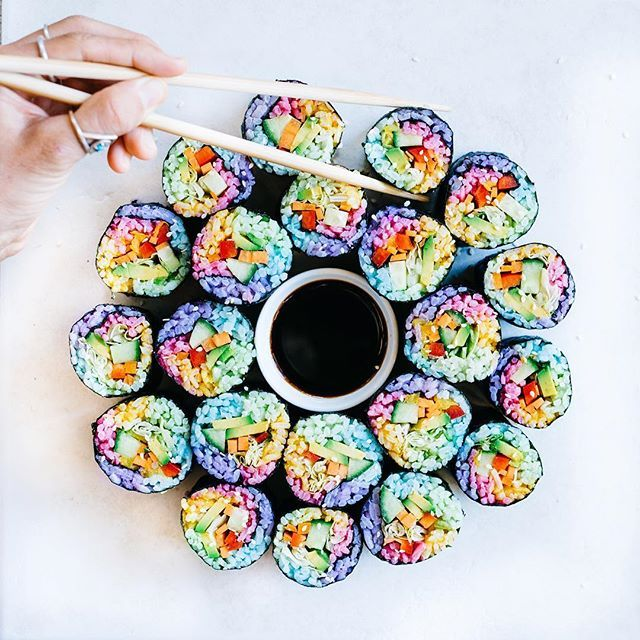 Rainbow sushi is the latest must-try food trend that everyone who loves mermaids + unicorns needs to try.