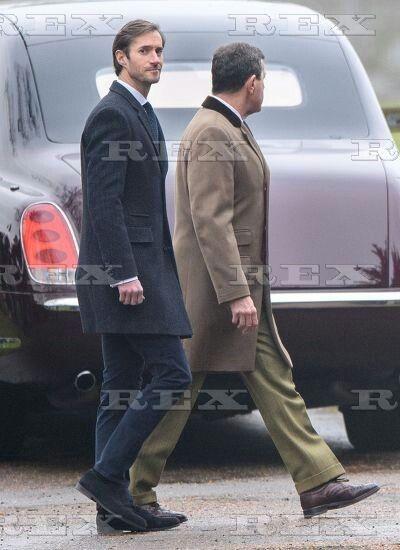 Royals at Sandringham Church, UK - 08 Jan 2017  Pippa Middleton's fiancee James Matthews  8 Jan 2017