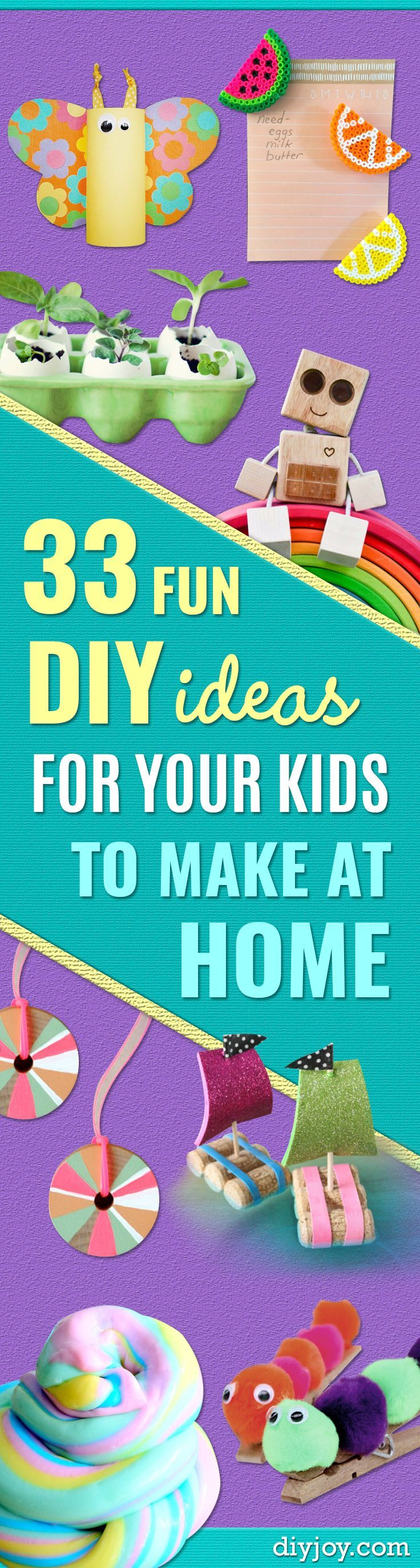 Craft Ideas for Children - Cute Paper Crafts, Fall and Winter Fun, Things For Toddlers, Babies, Boys and Girls to Make At Home - Easy DIY Ideas for Kids http://diyjoy.com/diy-ideas-for-kids-to-make