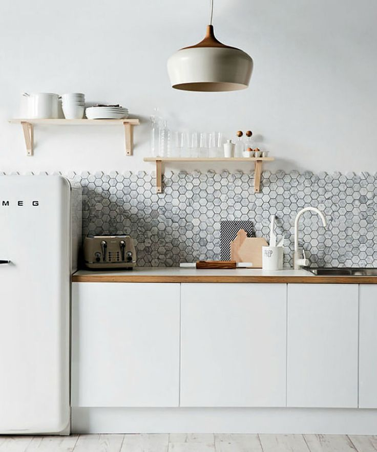 white casual kitchen with flat front cabinets