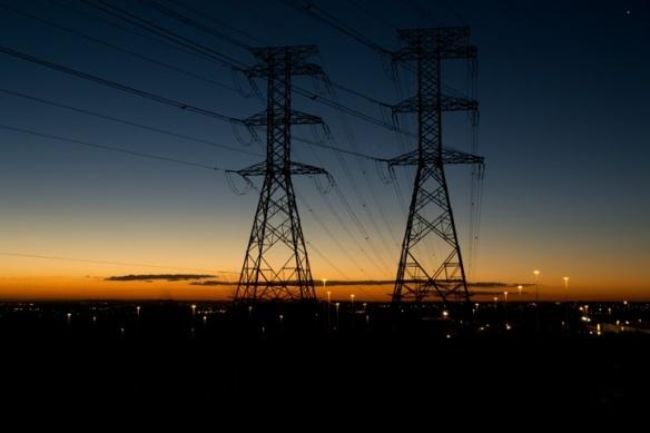Sun sets on Johannesburg.