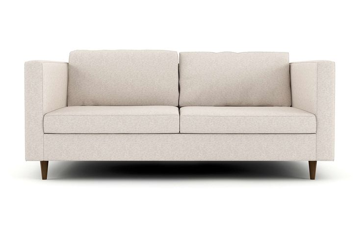 The Mota Apartment Sofa has casual sophistication, with a deep, low frame and the sofa is a comfortable lounge style design. The high arms, flow into the back, with an attractive smooth look in the thin arms. The modern sofa is a delightful addition to any family or living room with its slender proportions. This piece is a beautiful addition to the home. Stem offers multiple options for the back pillow filling, fabric, legs, bottom cushion filling, and the type of foam used.