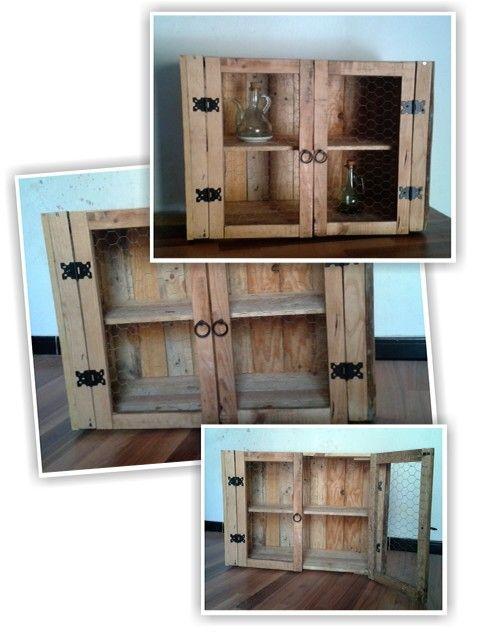 Alacena reciclado palets palets pinterest - Reciclaje de palets de madera ...