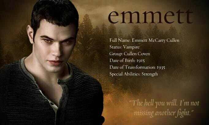 #TwilightSaga #NewMoon - Emmett Cullen